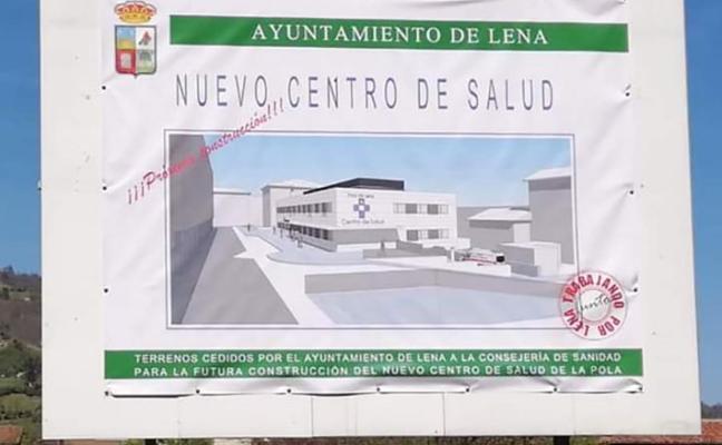 La Junta Electoral obliga a retirar el cartel del nuevo centro de salud de Pola de Lena