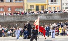 La procesión de La Venia en Luanco