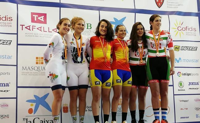 Asturias logra dos oros en el nacional de pista
