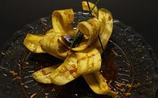 Milhojas de plátano y xarda