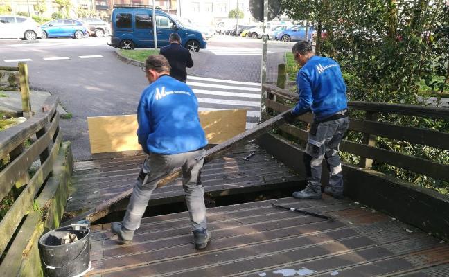 Comienza la obra de reparación integral del puente de La Serrería, en Corvera