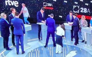 La foto más comentada del debate