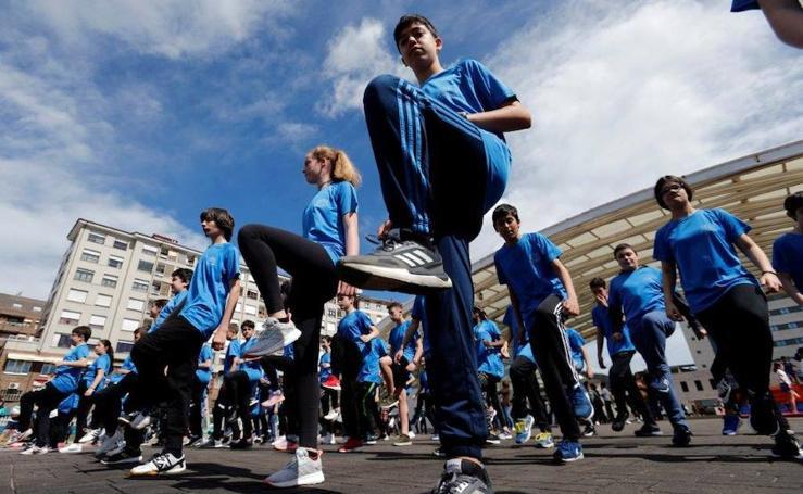 Los escolares celebran el Día de la Educación Física en Oviedo