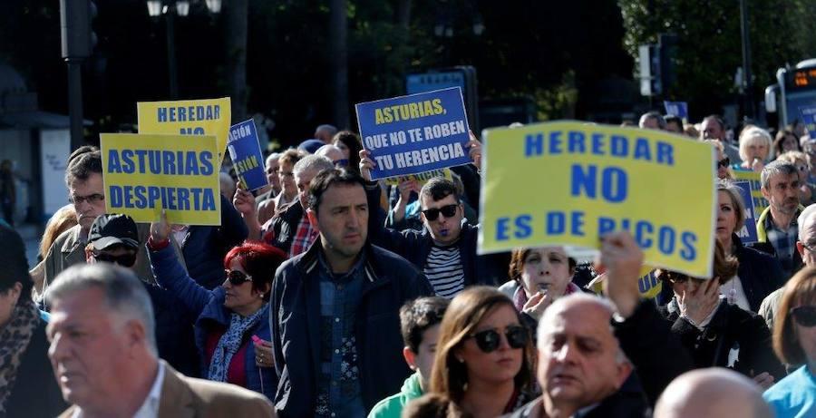 Protesta contra el impuesto de sucesiones