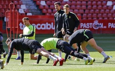 Jiménez, Lod e Ivi prueban en la banda izquierda del Sporting