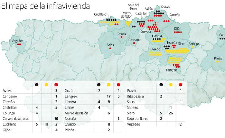 Mapa de la infravivienda