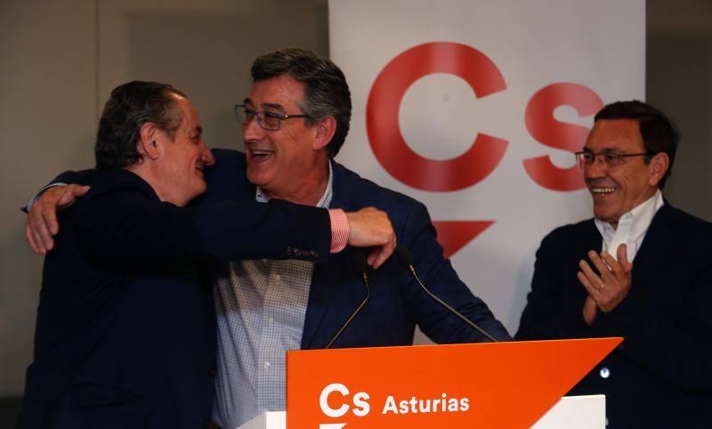 Ciudadanos celebra «un magnífico resultado en España y, grandísimo en Asturias»