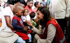 La reina Letizia visita en Mozambique un centro contra la malaria impulsado por España