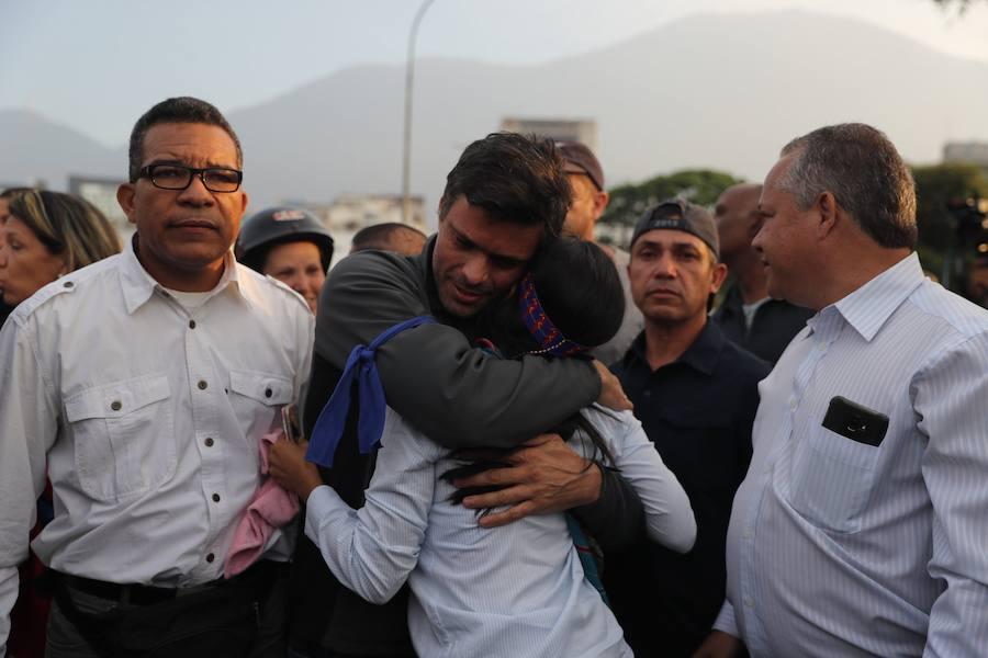 Fotos: Las imágenes del alzamiento militar en Venezuela