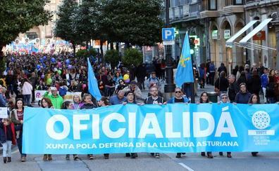 Una marcha reclama en Oviedo la oficialidad del asturiano «de una vez»