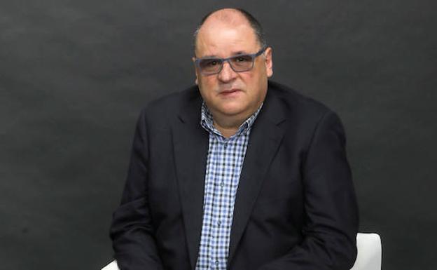 Mariano Díaz, durante la entrevista./ARNALDO GARCÍA