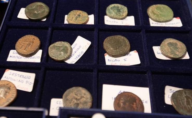 Monedas que llegan desde la Roma clásica