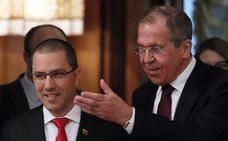 Lavrov escenifica ante Arreaza el apoyo sin fisuras de Rusia al régimen de Maduro