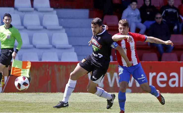 Las imágenes del partido entre el Sporting B 0 - 0 Tudelano