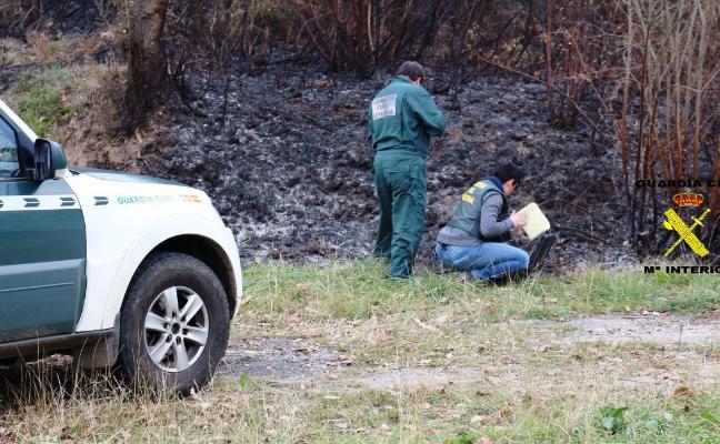 Un detenido y cinco investigados por la última oleada de incendios forestales