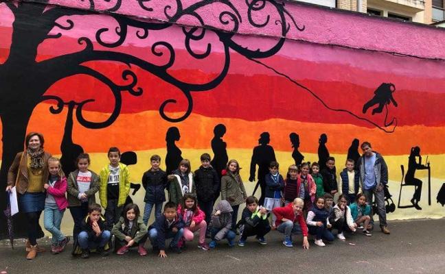 Los escolares de Avilés visitan en Sabugo