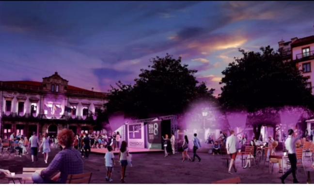 Canteli propone colorear el Oviedo Antiguo con un sistema de iluminación LED