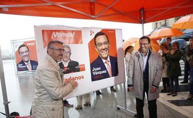 «Tenemos un techo para crecer», dice Juan Vázquez en la apertura de campaña