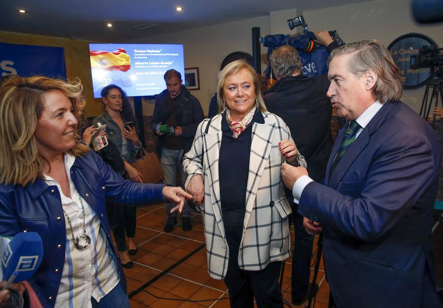 Inicio de la campaña electoral del PP asturiano