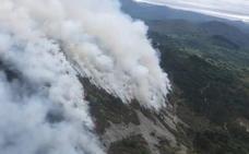 El incendio de la sierra Sollera, visto desde el aire