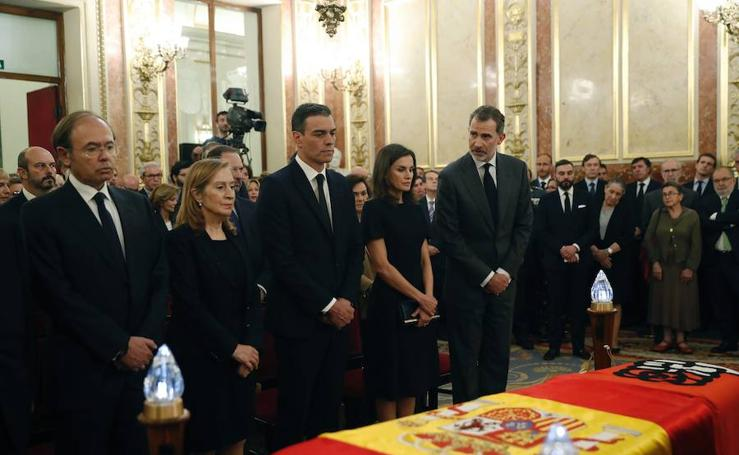 Capilla ardiente de Alfredo Pérez Rubalcaba en el Congreso de los Diputados