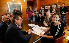 Moriyón, tras la firma del plan de vías: «Este proyecto no tiene marcha atrás»