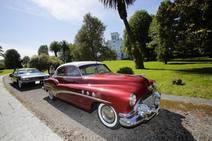 Exposición de coches clásicos en Ribadedeva