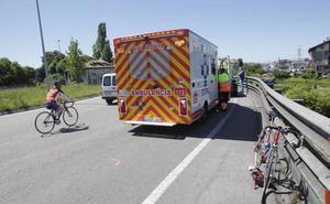 Herido un ciclista tras ser atropellado por un vehículo en Oviedo