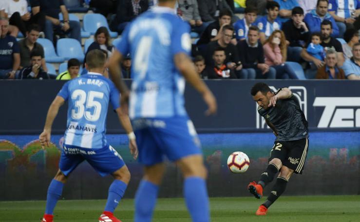 Las imágenes del partido entre el Málaga - Real Oviedo
