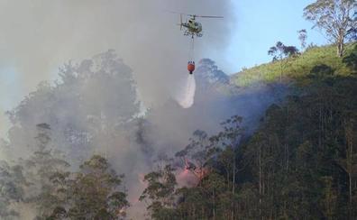 Declarado un incendio en la zona de Monte Alea, entre Parres y Ribadesella