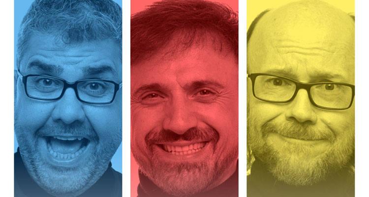 'Dos tontos y yo' con José Mota, Santiago Segura y Florentino Fernández en Gijón