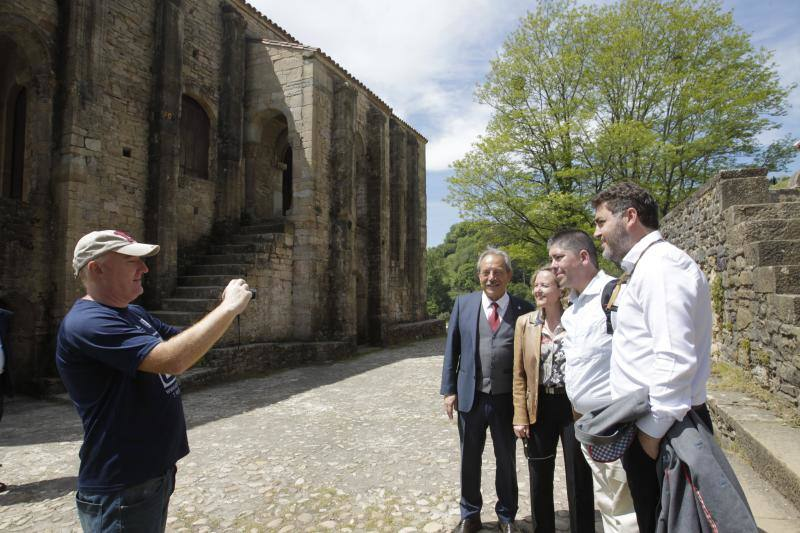 Nadia Calviño a su paso por Asturias