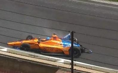 Fernando Alonso, tras estrellarse: «Error por mi parte»