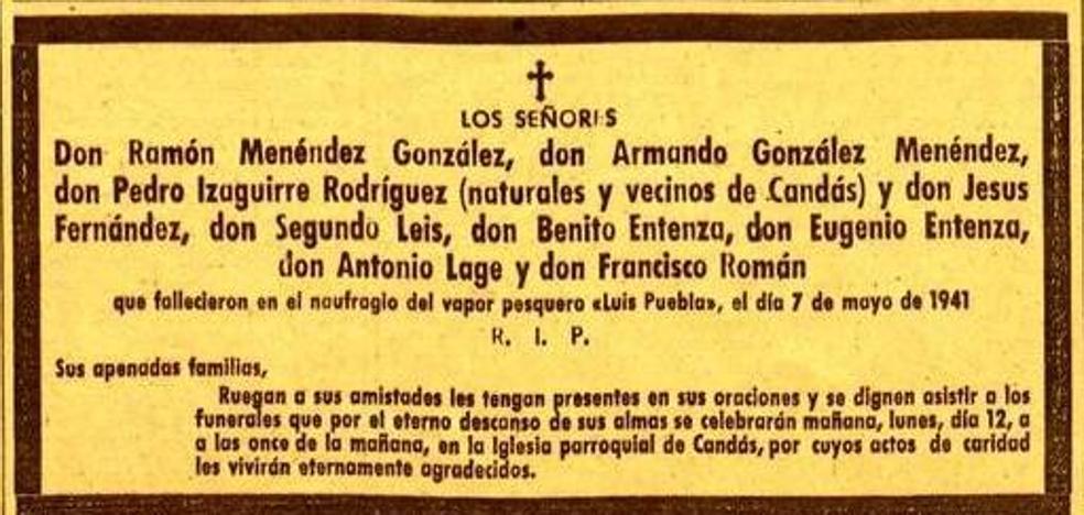 Tragedia a cien millas de Gijón. La tuerta suerte del Luis Puebla (1941)