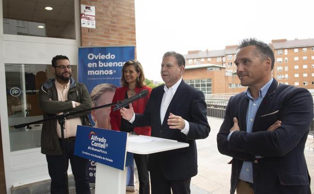 Canteli promete un pabellón multiusos para seis mil personas en Ciudad Naranco