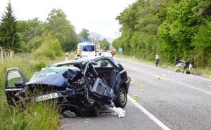 Un joven de 25 años muerto y dos heridos en un accidente de tráfico en El Remedio (Nava)