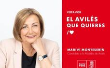 Los carteles electorales en Avilés