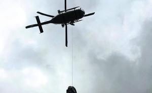 Rescatan a una montañera con un tobillo roto en una ruta de Cabrales
