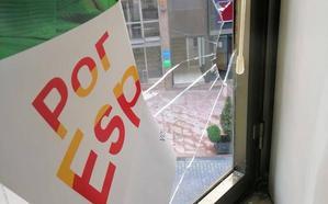 Elecciones autonómicas 26M: Ciudadanos y Vox denuncian la rotura de cristales en sus sedes de Oviedo