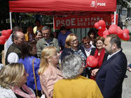 José Luis Ábalos, en un acto de campaña regional y local en Gijón