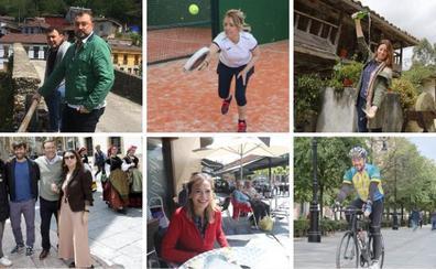 Familia, deporte, naturaleza y cultura, en la jornada de reflexión de los candidatos asturianos