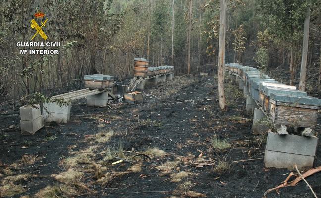 Un apicultor de Tineo, presunto autor del fuego en Candamo que llenó la zona central de humo