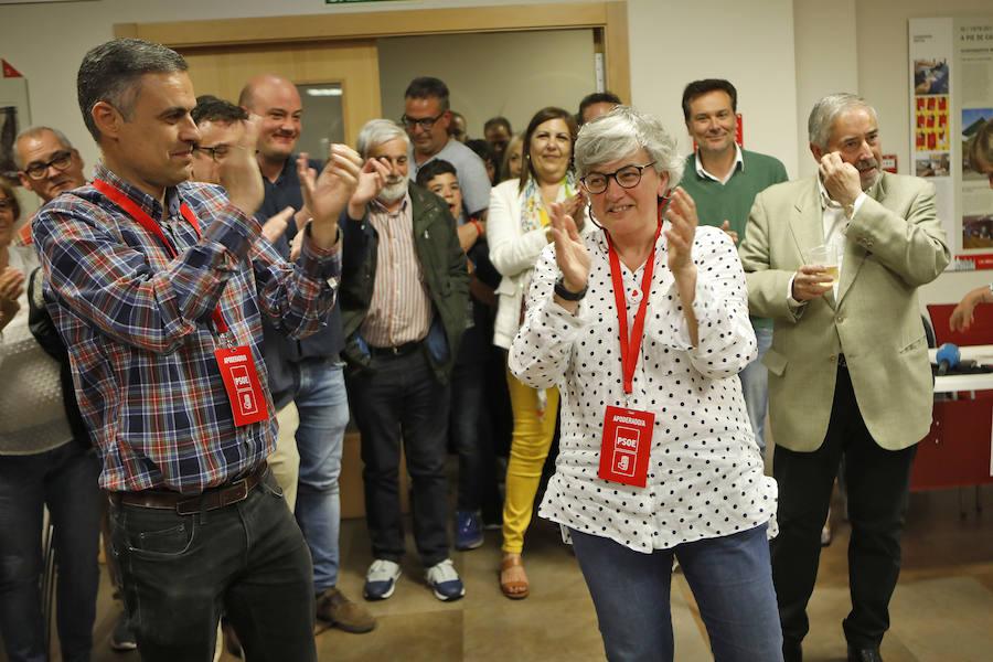 El PSOE celebra su victoria en Gijón