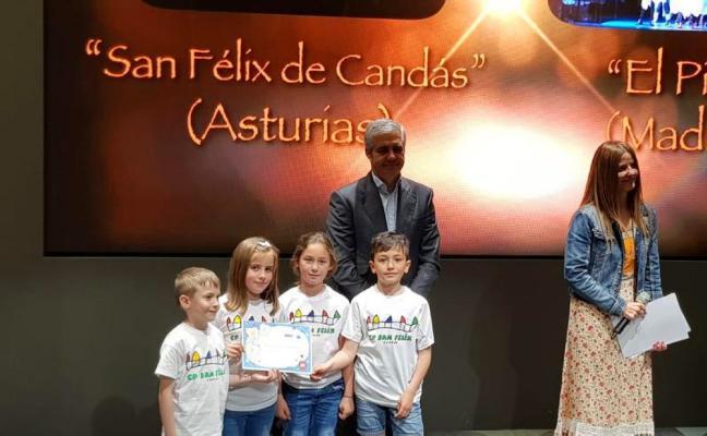 El colegio San Félix de Candás, premiado por la Sociedad Española de Cardiología