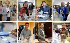 Los candidatos votan en Oviedo