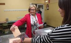 Los candidatos votan en Avilés