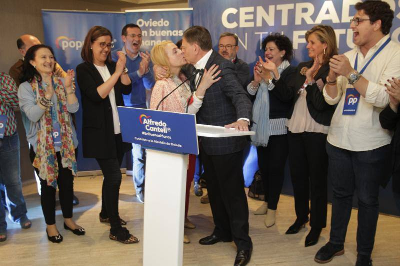 El Partido Popular celebra el triunfo en Oviedo