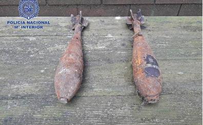 La Policía Nacional desactiva dos granadas de mortero de la Guerra Civil en Oviedo