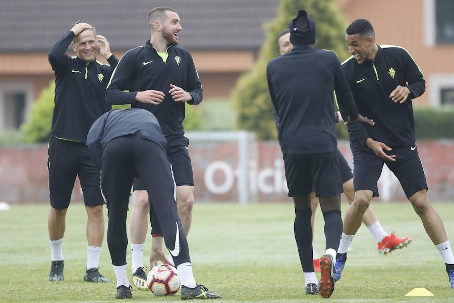 Entrenamiento del Sporting (27/05/2019)