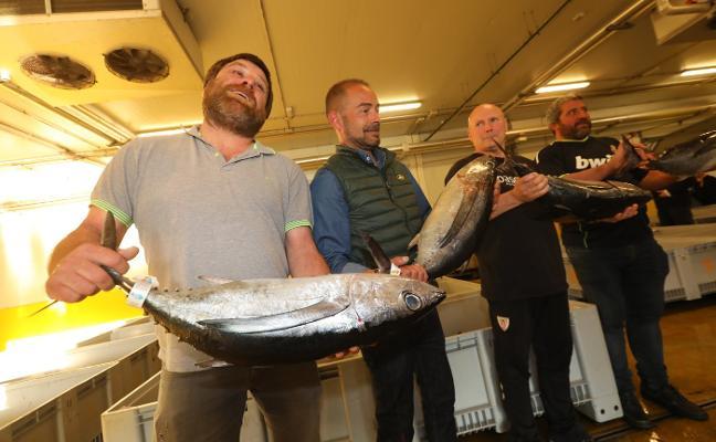 El primer bonito de la costera marca un nuevo récord de 330,60 euros el kilo